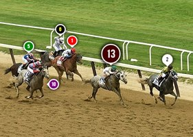 2016 Belmont Stakes Race Sequence