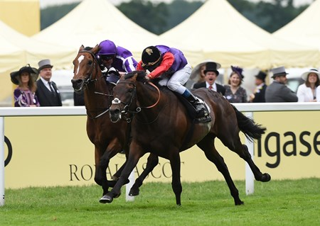 Dartmouth wins the 2016 Hardwicke Stakes at Royal Ascot on June 18, 2016.