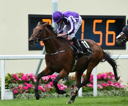 Sir Isaac Newton wins the 2016 Wolferton Handicap at Royal Ascot on June 18, 2016.