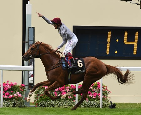 Galileo Gold, with Frankie Dettori, wins the St James's Palace Stakes June 14, 2016 at Royal Ascot.