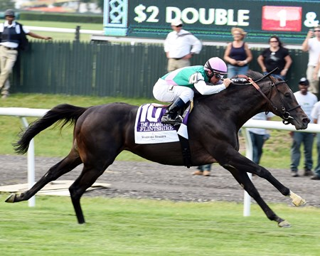 Flintshire with Javier Castellano wins the 2016 Woodford Reserve Manhattan (gr. I)