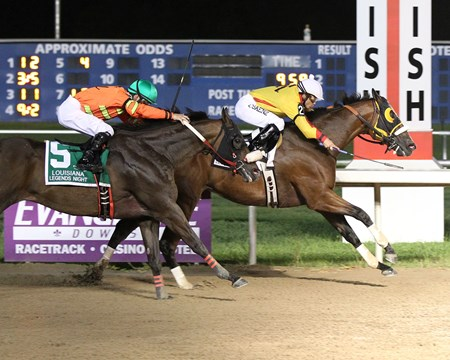 Heitai wins the 2015 Louisiana Legends Sprint Stakes.
