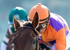 Spendthrift Farm's Beholder and jockey Gary Stevens win the Vanity Mile