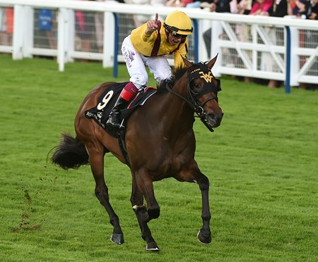 Lady Aurelia wins the Queen Mary Stakes at Royal Ascot