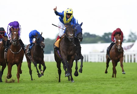 Across The Stars wins the 2016 King Edward VII at Royal Ascot on June 17, 2016.