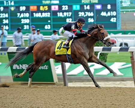 Shaman Ghost with Joel Rosario wins the Brooklyn (gr. II)