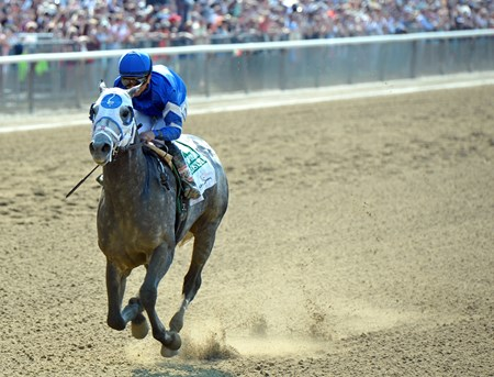 Frosted wins the 2016 Met Mile.
