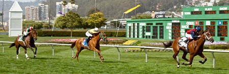 On June 1, 2013, Unusual Way wins the $100,000 Campanile Stakes with Russell Baze aboard.