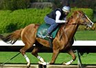 California Chrome worked six furlongs in 1:12 2/5 on June 25.