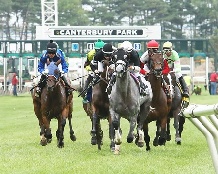Kitty Wine wins the Lady Canterbury Stakes atCanterbury Park in Shakopee, Minnesota July 11, 2015
