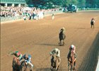 Claiborne Farm's Pulpit wins the '97 Blue Grass with authority