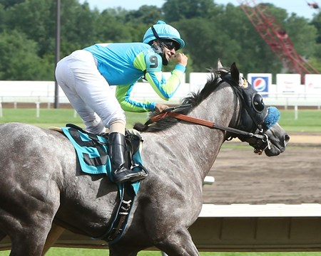 SAM SCORED A GOAL 2,000th Career Win for Jockey Orlando Mojica!!! Canterbury Park     Shakopee, Minnesota July 10, 2016    Race #10 Purse $10,500 5-1/2 Furlongs  1:05.49 Breezy West Farms, LLC, Owner Miguel Angel Silva, Trainer Orlando Mojica, Jockey Holy Brass (2nd) Bold Advantage (3rd) $4.20 $3.20 $2.60 Order of Finish - 9, 1, 2, 8 Please Give Photo Credit To:  / Coady Photography