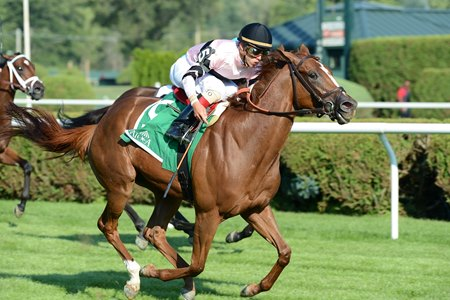 Ancient Secret in her Lake George Stakes win
