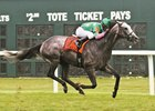 Pure Sensation winning last year's Parx Dash under Kendrick Carmouche