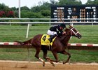 "I'm a Chatterbox comes home strong in the Delaware Handicap.<br><a target=""blank"" href=""http://photos.bloodhorse.com/AtTheRaces-1/At-the-Races-2016/i-NDnZHtN"">Order This Photo</a>"