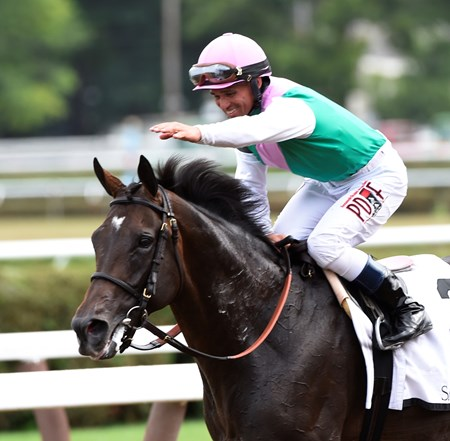 Flintshire wins the 58th running of The Bowling Green at Saratoga 7/30/16.