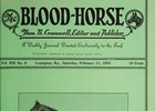 February 11, 1933 cover of Blood-Horse featuring Jack High