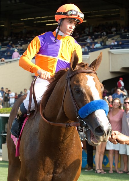 Spendthrift Farm's Lord Nelson wins the $300,000 Bing Crosby Stakes (gr. I), Sunday, July 31, 2016 at Del Mar Thoroughbred Club, Del Mar CA.