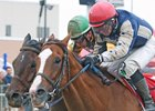 Smack Smack edges pacesetter Shotgun Kowboy to win the Prairie Meadows Cornhusker Handicap.