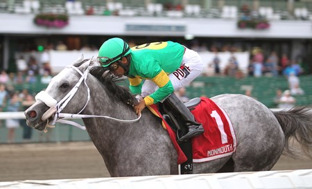 Stonetastic wins the 2016 Regret Stakes at Monmouth Park in Oceanport, New Jersey