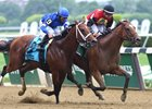 A. P. Indian takes the Belmont Sprint Championship Stakes over Marking
