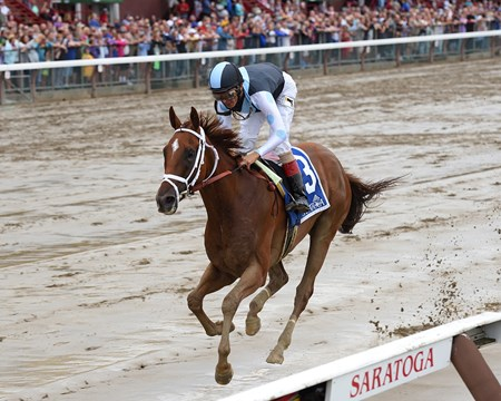 Curalina wins the Shuvee Stakes at Saratoga July 31, 2016