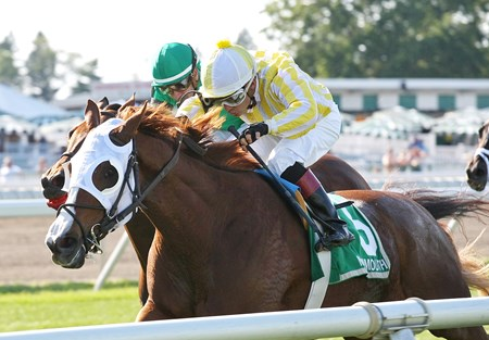Franklin Towers wins the 2016 Lamplighter Stakes at Monmouth Park