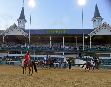 Headed to the post in the Clark Handicap (gr. I) under the Twin Spires.