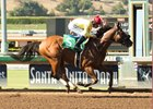 Masochistic wins an optional-claiming allowance race July 8 at Santa Anita
