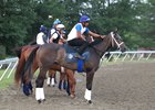 Sunny Ridge with assistant trainer Carlos David aboard at Monmouth Park