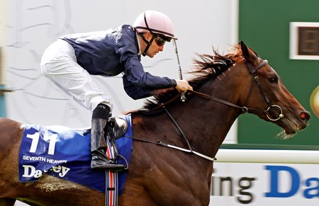 Seventh Heaven and Colm O'Donoghue take the Yorkshire Oaks.