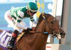 Accelerate won the Shared Belief Stakes at Del Mar August 26