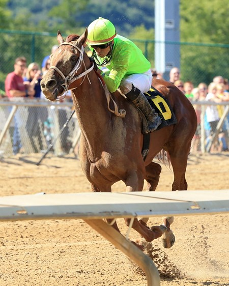 Hawaakom wins the 2016 West Virginia Governor's Stakes.