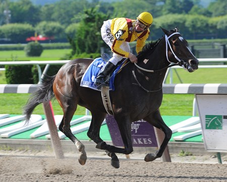 Rachel Alexandra wins the 2009 Mother Goose Stakes