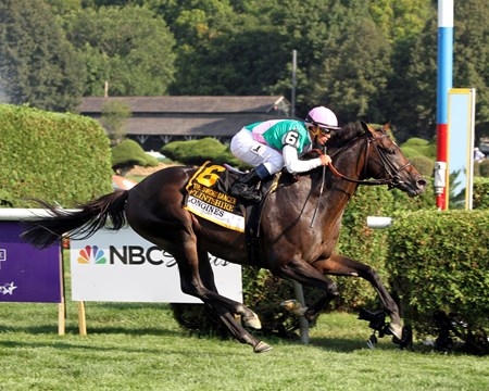 Flintshire with Javier Castellano win the 42nd Running of the Sword Dancer (GI) at Saratoga on August 27, 2016.
