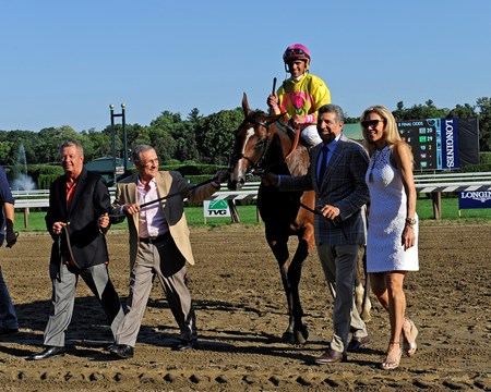 Owner Michael Dubb on right. Fourstar Crook with Javier Castellano