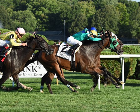 King Kreesa wins the 2016 West Point Stakes.