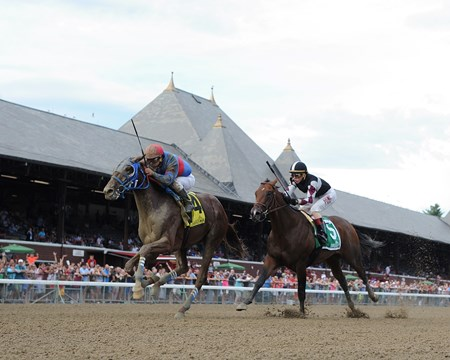 Gunnevera wins the Saratoga Special Stakes Aug. 14, 2016.
