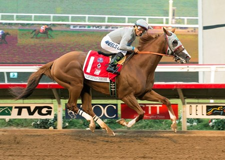 California Chrome wins the 2016 Pacific Classic