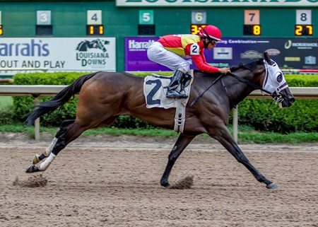 Look Into My Eyes wins the 2016 Louisiana Cup Filly and Mare Sprint Stakes