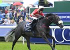 Mecca's Angel rolls to victory in the Coolmore Nunthorpe Stakes