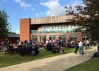 Patrons gather prior to the Goffs UK Premiere Yearling Sale