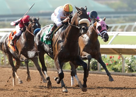 Soi Phet wins the 1st Division of the 2016 Harry F. Brubaker Stakes.