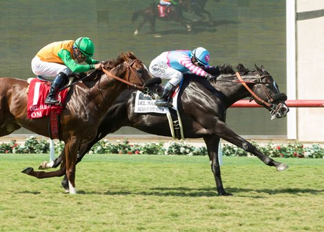 Midnight Storm Speeds To Del Mar Mile Victory Bloodhorse