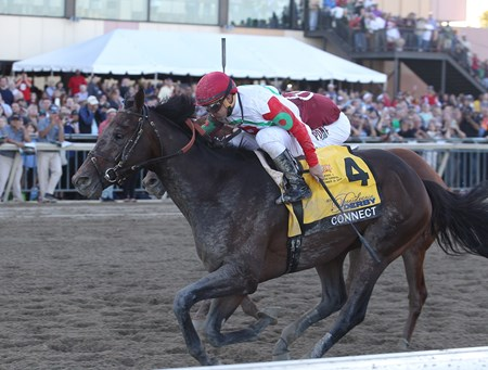 Connect wins the 2016 Pennsylvania Derby at Parx Racing in Bensalem, Pennsylvania on Saturday September 24, 2016.