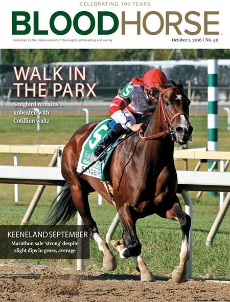 BloodHorse Cover Oct. 1, 2016 no. 40