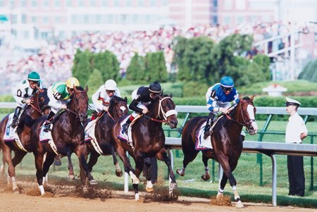 John Dowd is best known for training grade II winner Songandaprayer, shown leading early in the 2001 Kentucky Derby