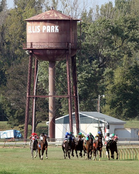 Ellis Park water tower scene