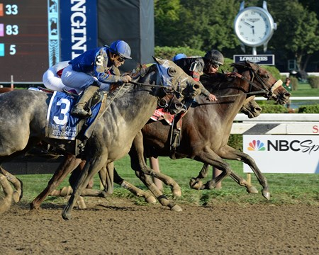 Shaman Ghost wins the 2016 Woodward Stakes.