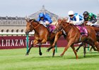 "Vadamos wins the QATAR Prix Vermeille at Chantilly Sept. 11. <br><a target=""blank"" href=""http://photos.bloodhorse.com/AtTheRaces-1/At-the-Races-2016/i-hPVPz7S"">Order This Photo</a>"